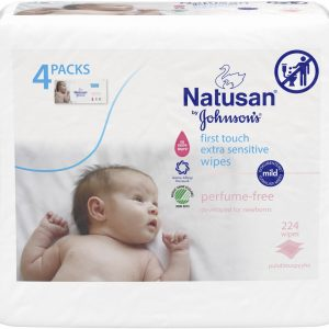 Natusan First Touch Extra Sensitive Wipes 224 st