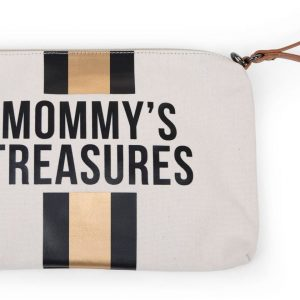 Childhome Clutch, Off White Black/Gold