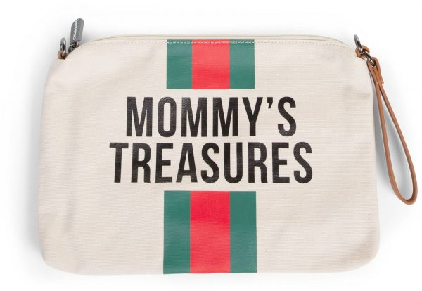 Childhome Clutch, Off White Green/Red