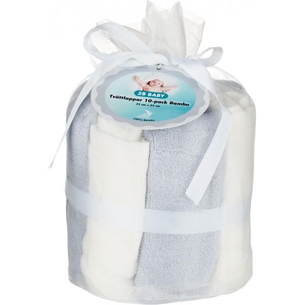 2B Baby Tvättlappar Bambu 10-pack (Grå)