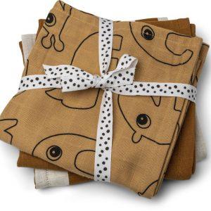 Done by Deer Raptrasa 3-Pack Deer Friends, Mustard