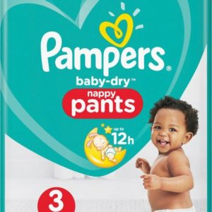 Pampers - 44 Pcs Baby Dry Nappy Pants Size 3