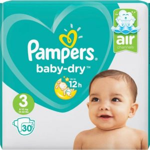 Pampers - Baby Dry Nappies Size 3 30 Pcs