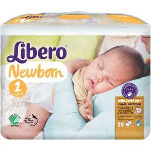 Libero Newborn Blöjor Storlek 1, 28 st