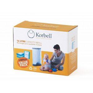 Korbell Blöjhink Refill 3-pack