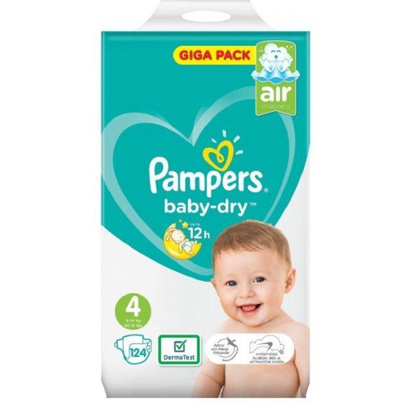 Pampers Baby-Dry blöjor S4 9-14 kg 124 st