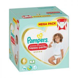 Pampers Premium Protection byxblöjor S6 15+ kg 56 st
